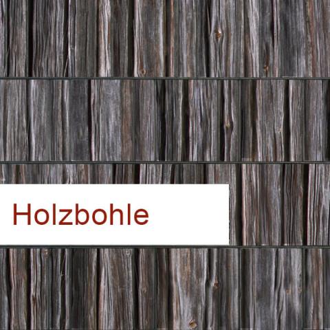 PES Sichtschutzstreifen Motiv Holzbohle