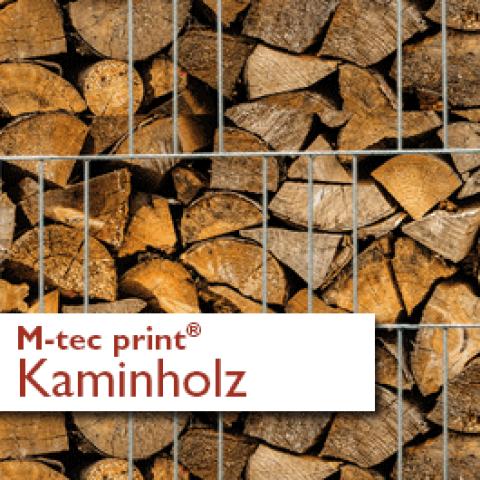 M-tec print® Zaunblenden Motiv Kaminholz