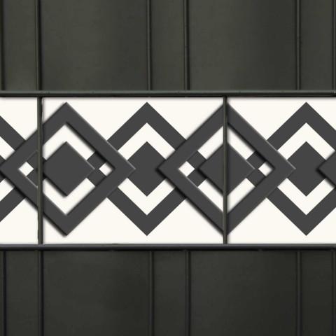 PVC Design Zaunstreifen Motiv  Karo - Tape