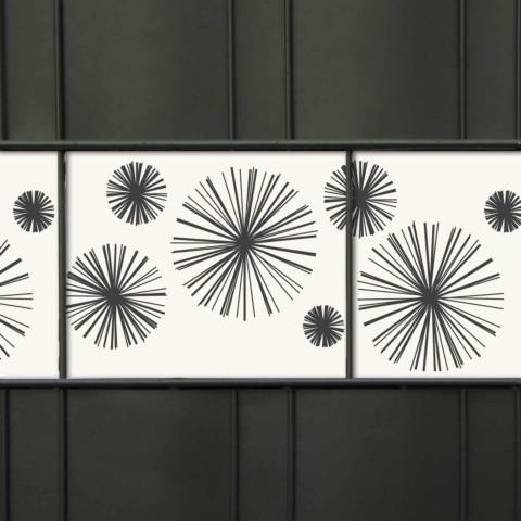 PVC Zaunstreifen mit Motiv Linienstern