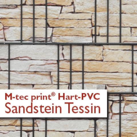 M-tec print bedruckte Hart PVC Streifen mit Sandstein Tessin - Motiv