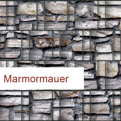 Sichtschutzstreifen Motiv Marmormauer