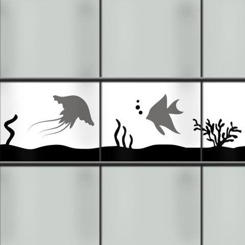 Kreativstreifen mit Tiermotiv Meerestiere