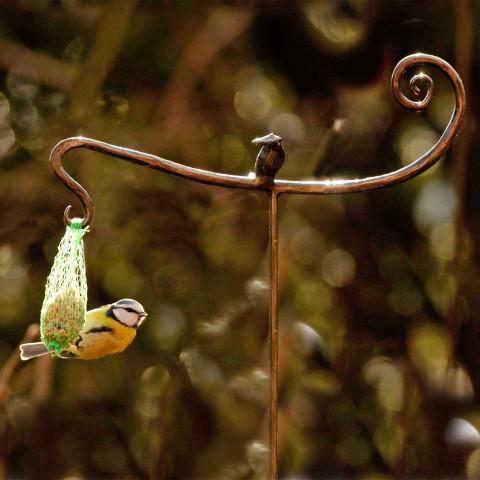 Meisenknödelhalter mit Vogel - Kikki Sting handgeschmiedet