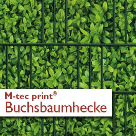 M-tec print PVC Zaunstreifen Kirschlorbeer bedruckt