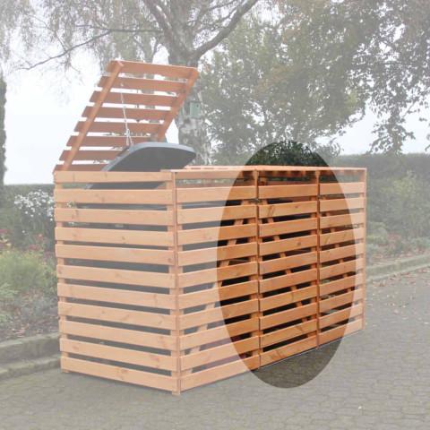 Mülltonnencontainer Erweiterung - honigbraun