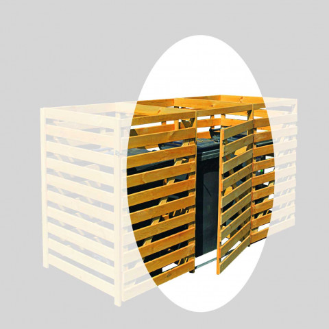 Erweiterung für Mülltonnenbox aus Kiefernholz