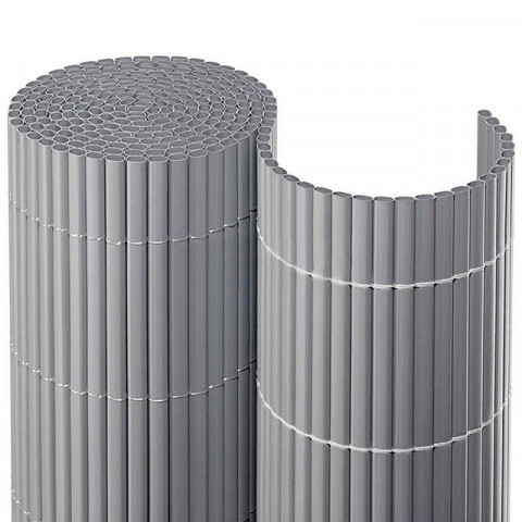 Balkonsichtschutzmatte Kompakt PVC - silber