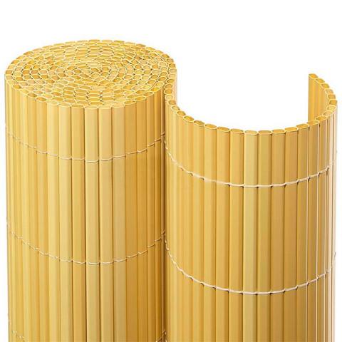 Balkonsichtschutzmatte Kompakt PVC - bambus