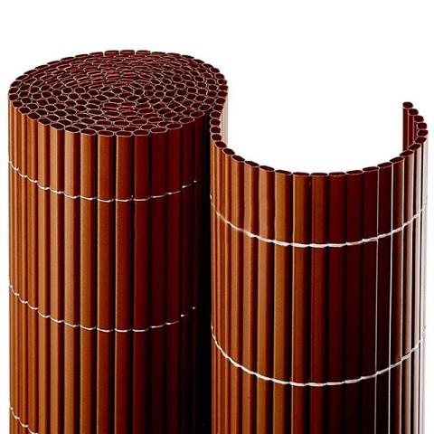 Balkonsichtschutzmatte Kompakt PVC - braun