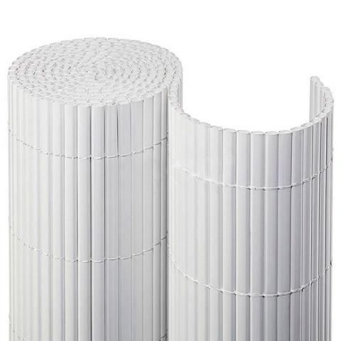 Balkonsichtschutzmatte Kompakt PVC - weiß