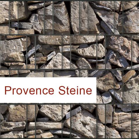 Sichtschutzstreifen Motiv Provence Steine