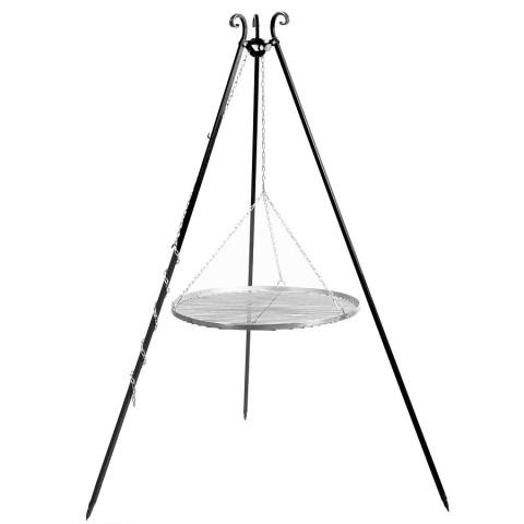 Dreibein Schwenkgrill mit Grillrost aus Edelstahl