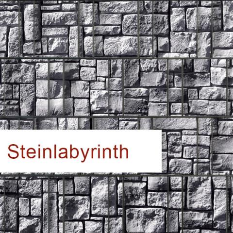 Sichtschutzstreifen Motiv Steinlabyrinth