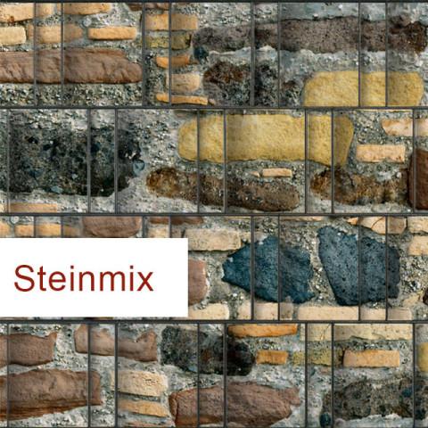 Sichtschutzstreifen Motiv Steinmix | textiles Polyester