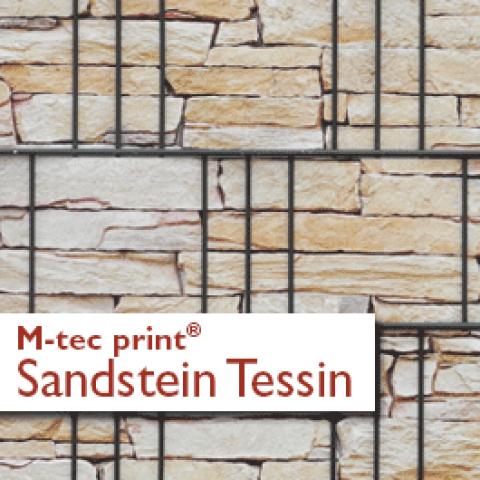 M-tec print PVC Sichtschutzstreifen Motiv Sandstein Tessin
