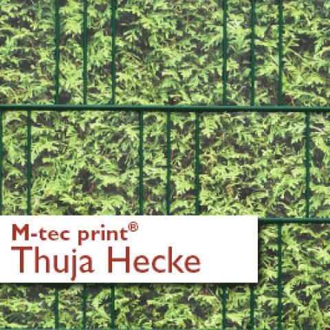 M-tec print PVC Zaunstreifen Thuja Hecke bedruckt