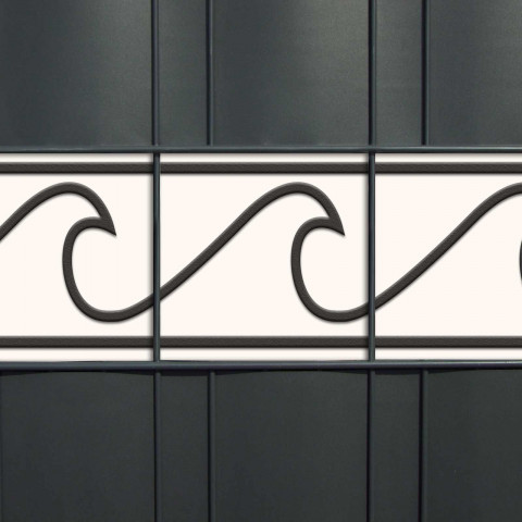 PVC Design Zaunblende - Motiv Wave