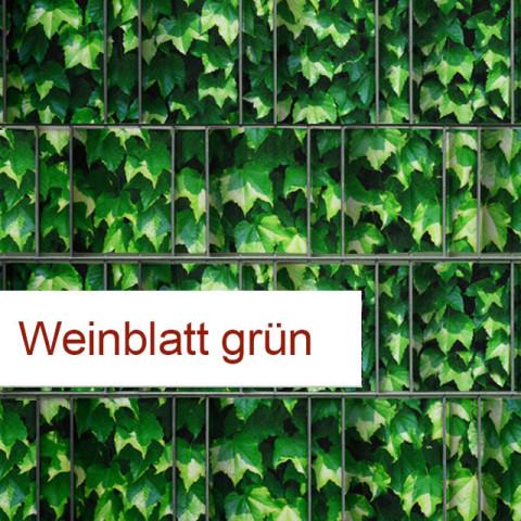 Sichtschutzstreifen Motiv Weinblatt grün