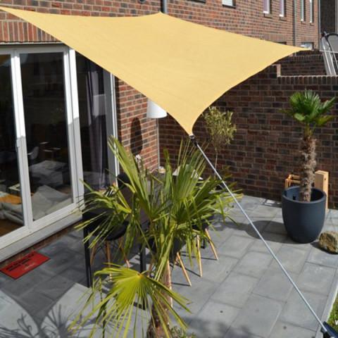 Vierecksonnensegel ohne Regenschutz