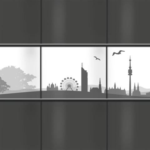 PVC Sichtschutz mit Wiener Skyline