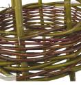 Rankobelisken aus Korbweide - Detail