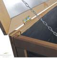 Balkon Hochbeet mit Deckel - Detail Kettensicherung