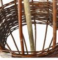 Rankhilfe aus Haselnuss und Weide Detailbild