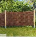 Weidenzaun Element Modell Englisch - Natursichtschutz im Garten