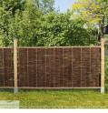Weidenflechtzaun Solid  Staketen als Garten Sichtschutz