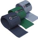 Rattangeflecht Sichtschutzstreifen anthrazit - grün - silberB-Ware