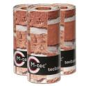 M-tec print® Streifen Backstein Mauer 9er