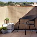 Balkon mit PVC Rattangeflecht Sichtschutz