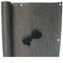 PVC Balkonblende im Rattangeflecht Design - kupfer
