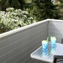 Balkonsichtschutzmatte Rolle Aluminium - Anwendung Balkon