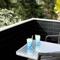 Balkonsichtschutzmatte PVC anthrazit - Anwendung