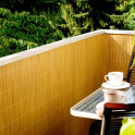 Balkonsichtschutzmatte Bambus Anwendung
