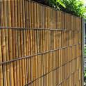 Gitterstabzaun als Sichtschutz im Garten | Motiv Bambus