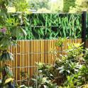 Zaunstreifen Bambushecke kombiniert mit Bambusrohr