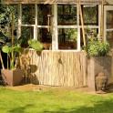 Bambusmatte als Dekoration und Schutz
