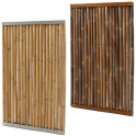Bambuswand mit Stahlrahmen