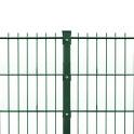 Doppelstabmattenzaun Set Grün Gittermatte und Pfosten