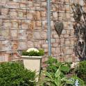 Bedruckter Gartenzaun Sandsteinoptik