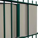 Befestigung von Sichtschutzstreifen mit PVC Schienen