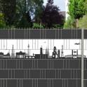 Berlin Stadtmotiv für den Gartenzaun