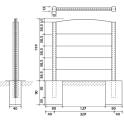 Maßskizze System Betonpfosten doppelseitig