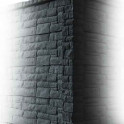 Betonzaunsystem Rockstone Eckpfosten anthrazit 305x12x12,5