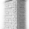 Betonzaunsystem Rockstone Eckpfosten betongrau 245x12x12,5