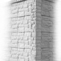 Rockstonepfosten Eckpfosten betongrau 275x12x12,5