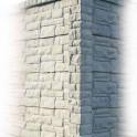 Betonzaunsystem Rockstone Eckpfosten grau-braun 245x12x12,5